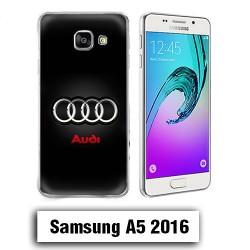 Coque Samsung A5 2016 Logo Audi Noire