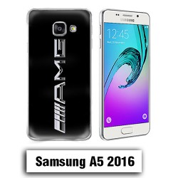 Coque Samsung A5 2016 logo AMG Metal Noire