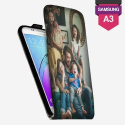 Etui Samsung Galaxy A3 personnalisé à clapet en cuir lakokine