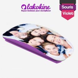 Souris sans fil personnalisée violette