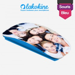 Lakokine blue customizable wireless mouse