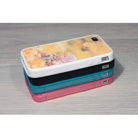 Coque iPhone 4/4S personnalisée avec côtés silicones unis