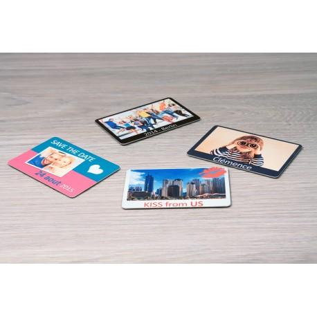 Magnet photo rectangle personnalisé