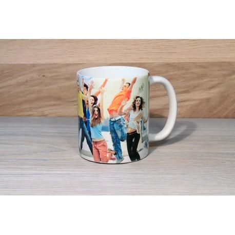 photo quality custom pink mug