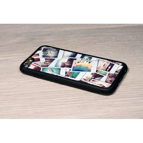 Coque iPhone XS X personnalisée avec côtés silicones unis