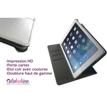 Etui iPad Air personnalisé à clapet en cuir