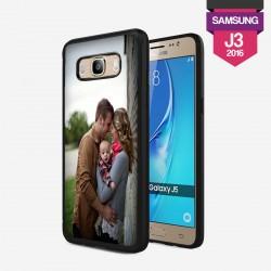 Coque Galaxy J3 2016 personnalisée avec côtés rigides unis