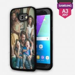 Coque Samsung Galaxy A3 2017 personnalisée avec côtés silicone unis lakokine