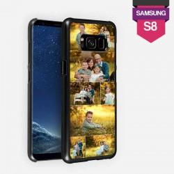 Coque Galaxy S8 personnalisée avec côtés rigides unis