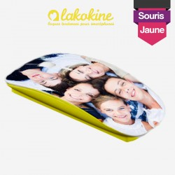 Create your custom yellow mouse with photos and text
